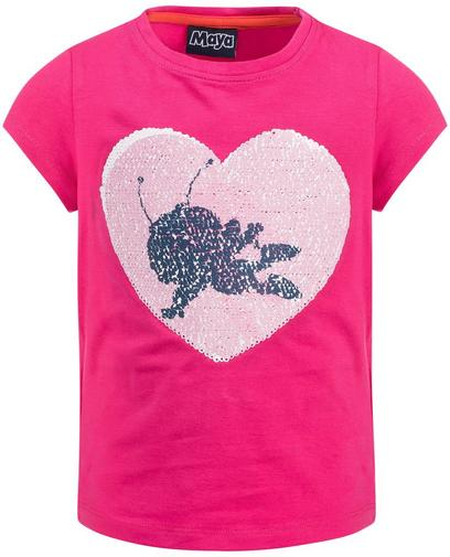Fuchsiaroze swipe T-shirt